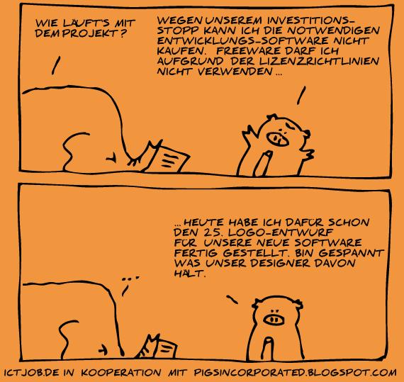 Investitionsstopp / Freeware / Lizenzen
