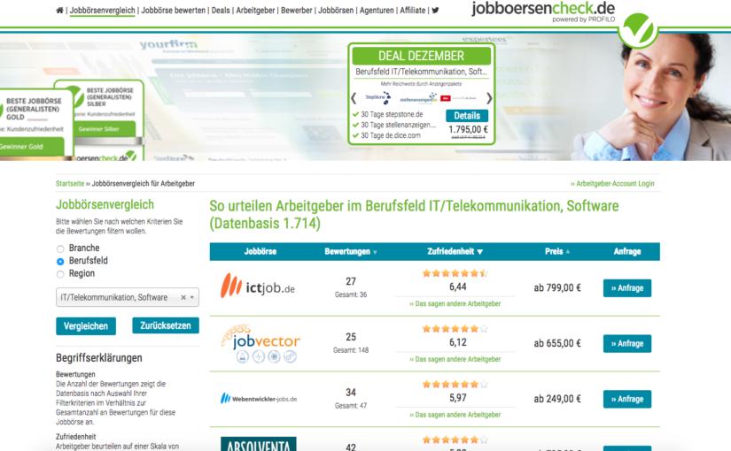 Arbeitgeber-Studie 2017: ictjob.de erneut beste IT Jobbörse!